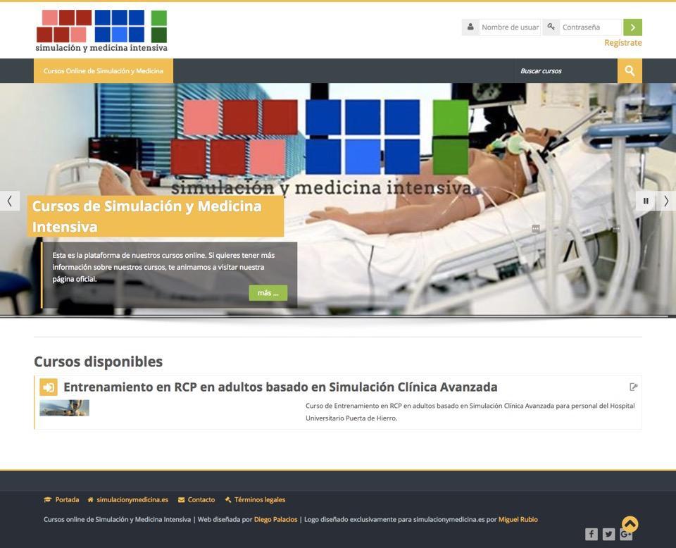 Portal de Cursos Online de Simulación y Medicina Intensiva