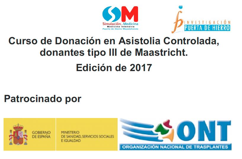 Apertura del plazo de inscripción para el Curso de Donación en Asistolia Controlada (tipo III de Maastricht) – Ediciones de 2017
