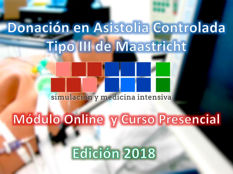 Curso de Donación en Asistolia Controlada, donantes tipo III de Maastricht. Edición de 2018