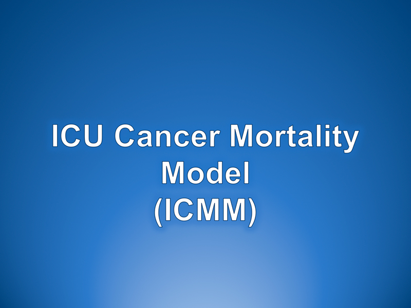 ICU Cancer Mortality Model (ICMM)