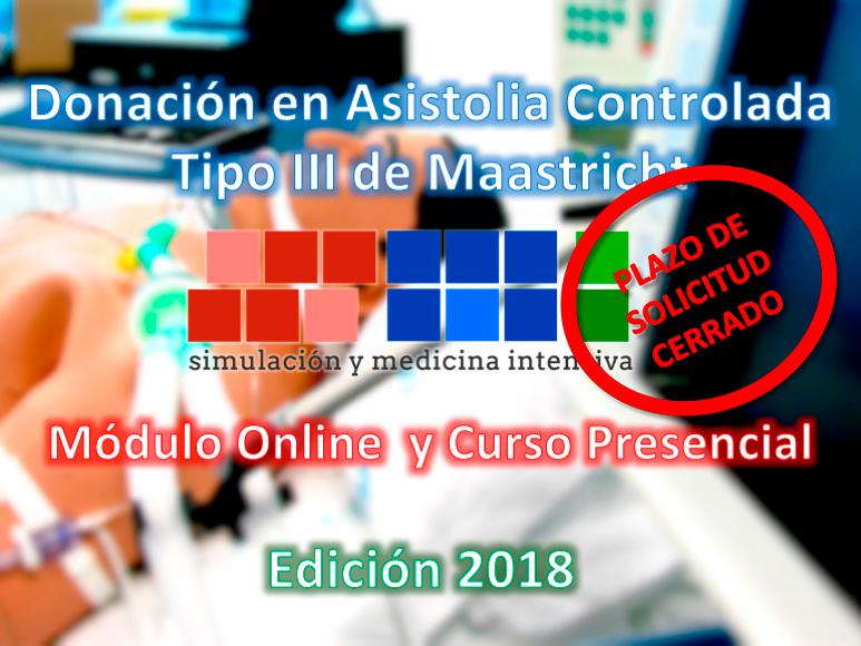 Fin del plazo de inscripción al Curso de Donación en Asistolia Controlada, edición 2018